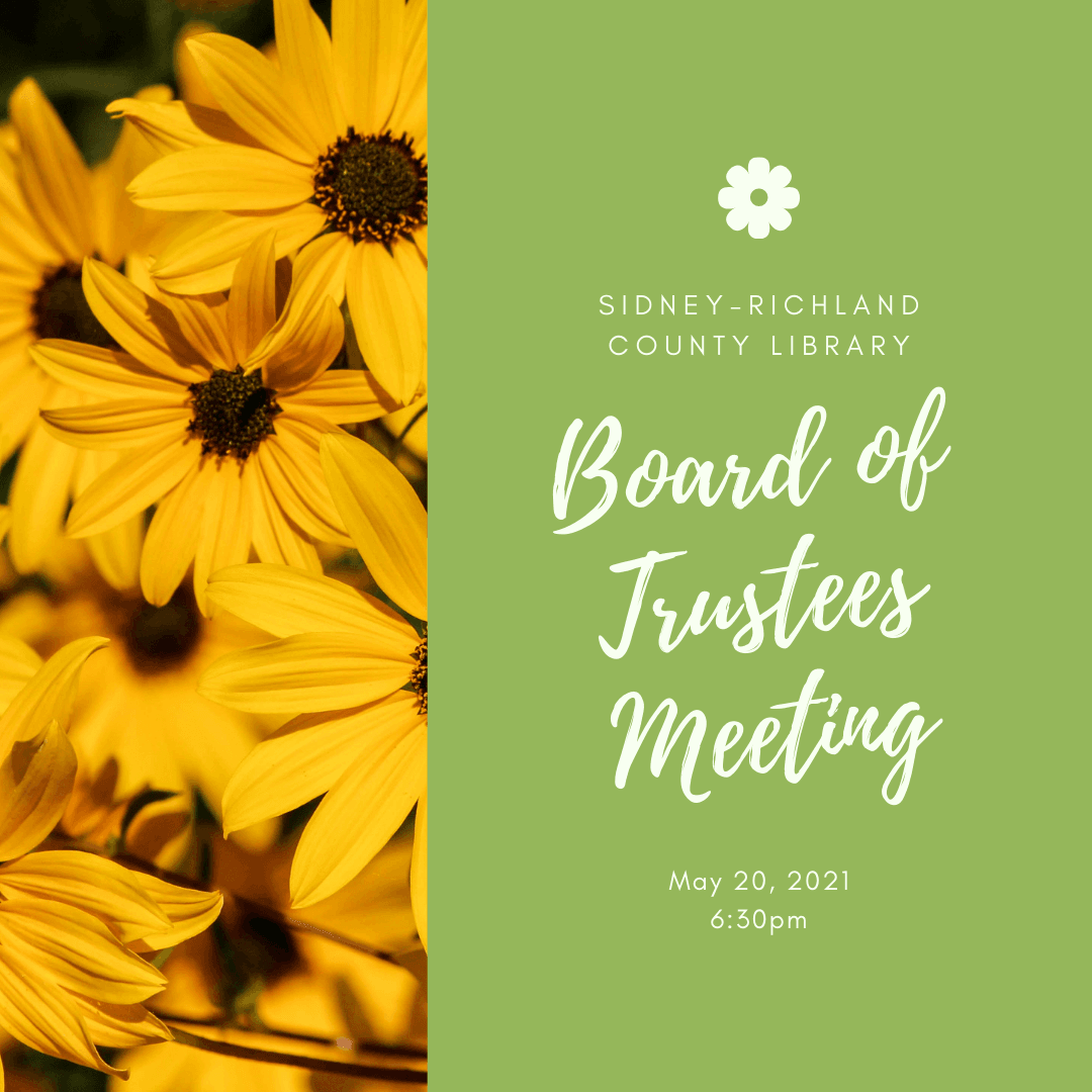 May 20, 2021, 6:30pm, Library Board of Trustees Meeting